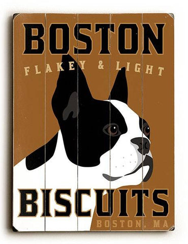 Boston Biscuits Wood Sign 12x16 Planked