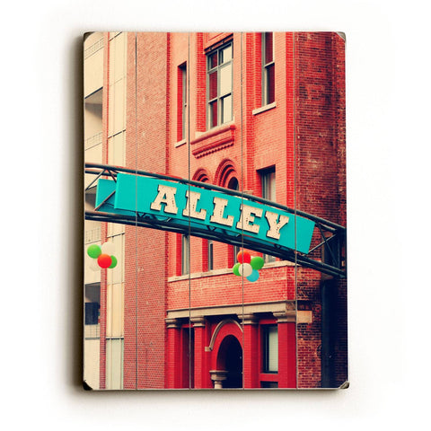 Alley Wood Sign 14x20 (36cm x 51cm) Planked