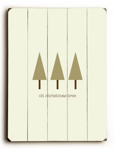 Oh Christmas Tree Wood Sign 30x40 (77cm x102cm) Planked