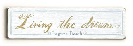 0002-8209-LIving the Dream Wood Sign 6x22 (16cm x56cm) Solid