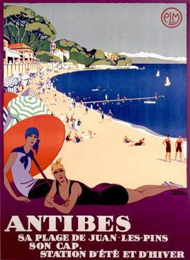 Antibes Wood Sign 18x24 (46cm x 61cm) Planked