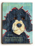 Portuguese Water Dog Wood Sign 18x24 (46cm x 61cm) Planked