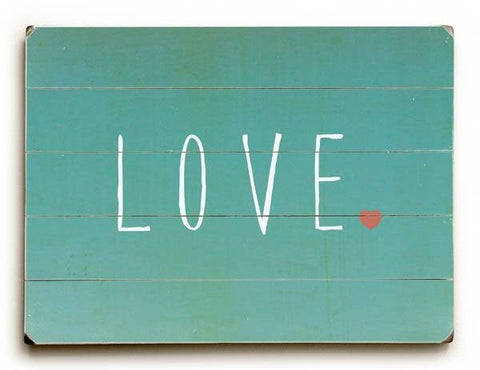 LOVE Wood Sign 14x20 (36cm x 51cm) Planked