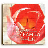 Family Life Wood Sign 13x13 Planked