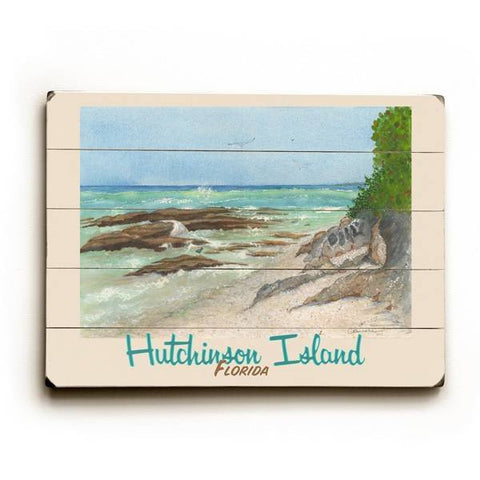 Rocky Beach Wood Sign 14x20 (36cm x 51cm) Planked