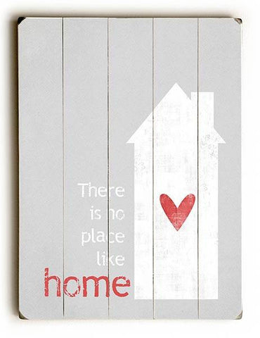 No Place Like Home Wood Sign 14x20 (36cm x 51cm) Planked
