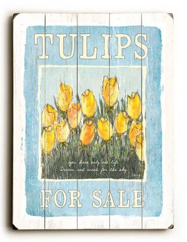 0003-2657-Tulips Wood Sign 12x16 Planked