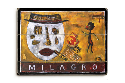 Milagro Wood Sign 18x24 (46cm x 61cm) Planked