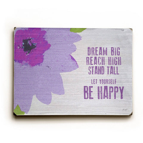 Dream Big Wood Sign 12x16 Planked