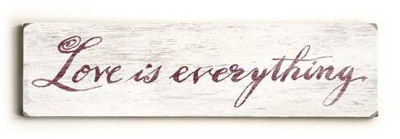 0002-8212-Love is Everything Wood Sign 6x22 (16cm x56cm) Solid