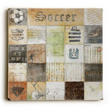 Soccer Collage Wood Sign 30x30 (77cm x 77cm) Planked