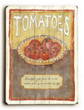 0003-0130-Tomatoes Wood Sign 18x24 (46cm x 61cm) Planked