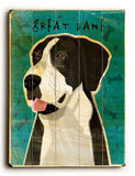 Great Dane Wood Sign 25x34 (64cm x 87cm) Planked