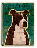 Pit Bull Wood Sign 25x34 (64cm x 87cm) Planked