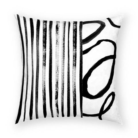 Stripes and Vine 2 Pillow 18x18