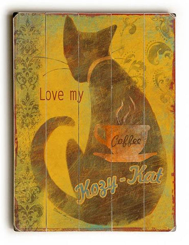 Kozy Kat Wood Sign 13x13 Planked