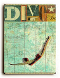 Dive Wood Sign 12x16 Planked