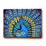 Peacock Profile Wood Sign 9x12 (23cm x 31cm) Solid