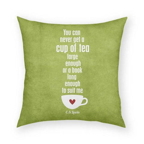 Cup of Tea Pillow 18x18