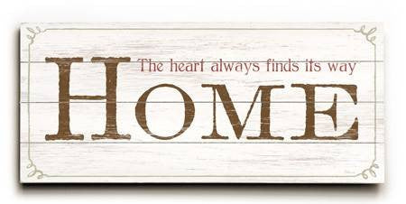 0003-1339-Home Wood Sign 10x24 (26cm x61cm) Planked