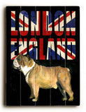 London Bulldog Wood Sign 25x34 (64cm x 87cm) Planked