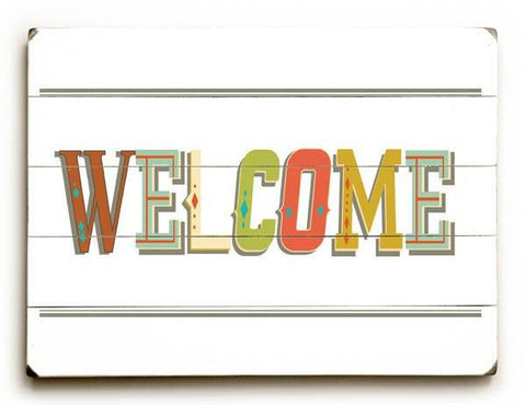 Welcome Wood Sign 25x34 (64cm x 87cm) Planked