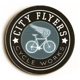 City Flyers Wood Sign 12x12 (30cm x 30cm) Round