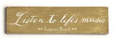 0002-8207-Listen to Life's Music Wood Sign 6x22 (16cm x56cm) Solid