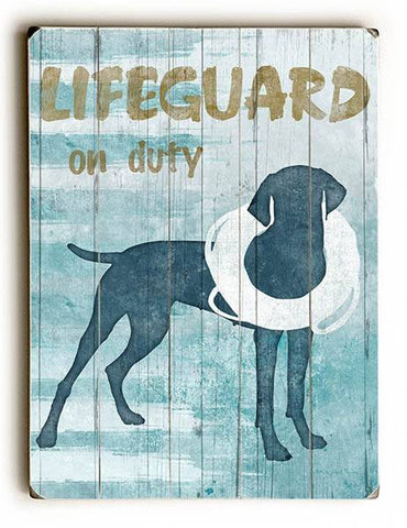 Lifeguard on Duty Wood Sign 12x16 Planked