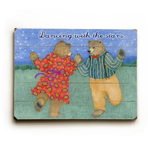 Dancing with the stars Wood Sign 30x40 (77cm x102cm) Planked