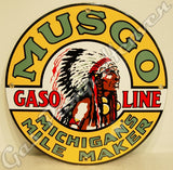 "Musgo Gasoline 12"" Sign"