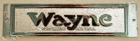 Wayne 60 Name Plate