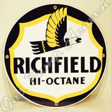 "Richfield Hi-Octane 12"" Sign"
