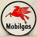 "Mobilgas 12"" Sign"