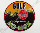 "Gulf No-Nox 30"" Sign"