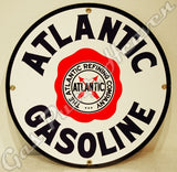 "Atlantic Gasoline 12"" Sign"