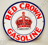"Red Crown Gasoline 12"" Sign"
