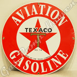 "Texaco Aviation Gasoline 12"" Sign"
