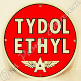"Flying ""A"" Tydol Ethyl 12"" Sign"