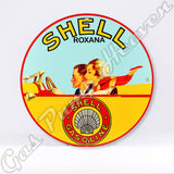 "Shell Roxana Gasoline 12"" Sign"