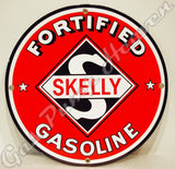 "Skelly Fortified Gasoline 12"" Sign"