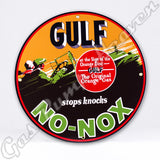 "Gulf No-Nox 12"" Sign"