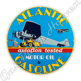 "Atlantic Aviation Gasoline 30"" Sign"