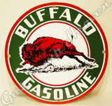 "Buffalo Gasoline 12"" Sign"