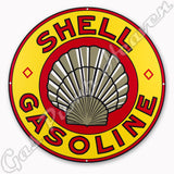 "Shell Gasoline 30"" Sign"