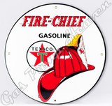 "Texaco Fire-Chief 12"" Sign"