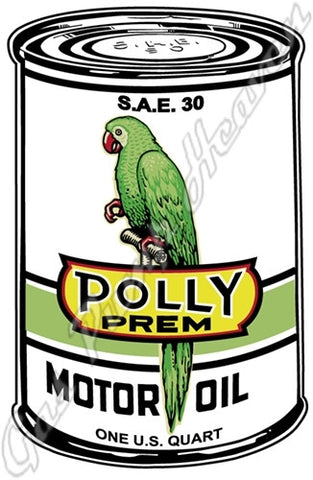 Polly Oil Can Sign