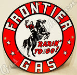 "Frontier Gas 12"" Sign"