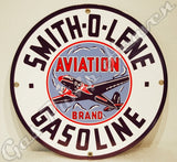 "Smith-O-Lene Gasoline 12"" Sign"