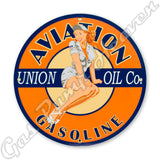 "Union Aviation Oil 12"" Sign"